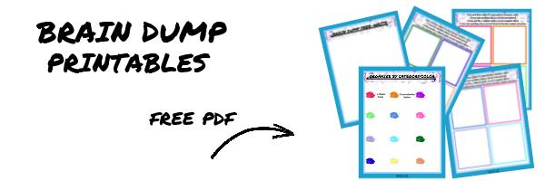 Brain Dump Printables