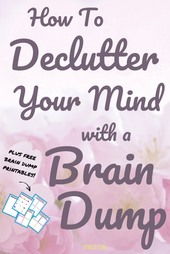image regarding Brain Dump Worksheet named How toward Declutter Your Confused Head with a Head Dump