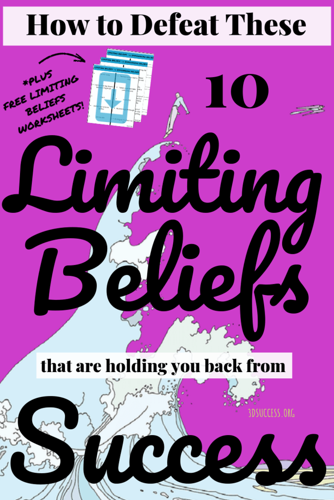 10 Limiting Beliefs that hold You Back from Success