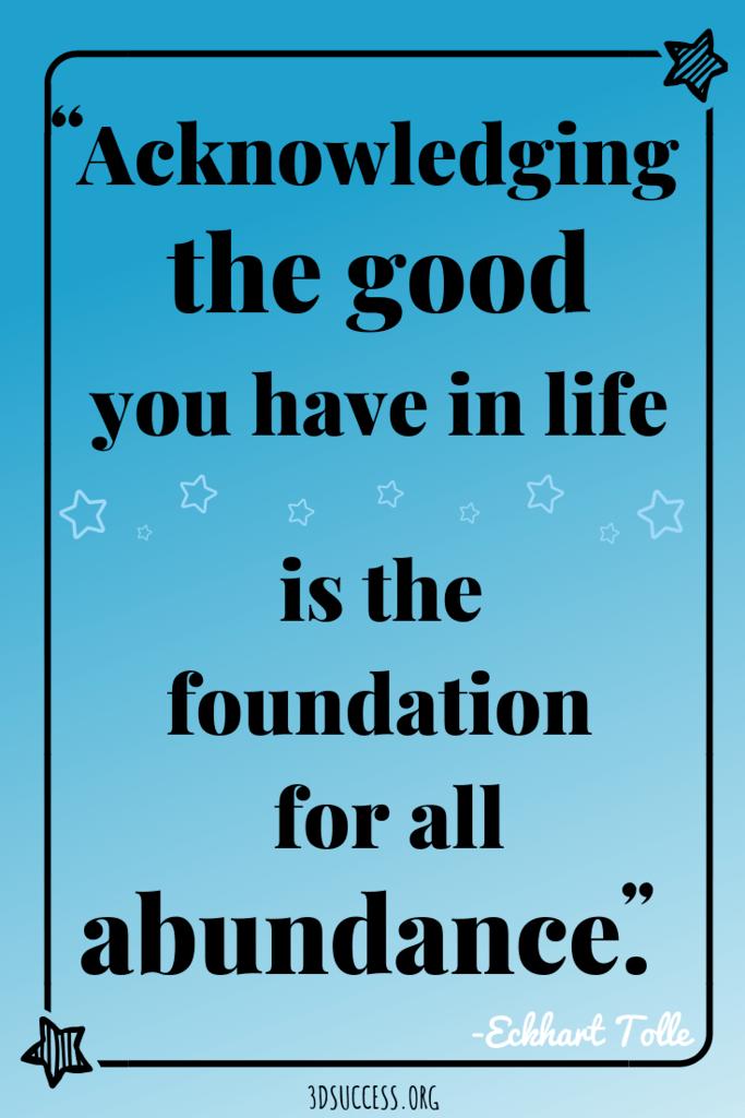 Eckhart Tolle quote abundance