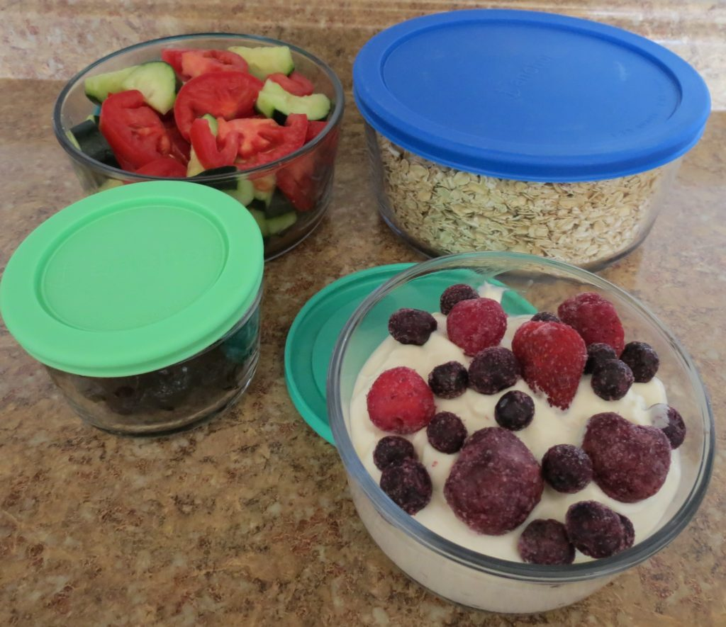 glass containers for anti-anxiety food