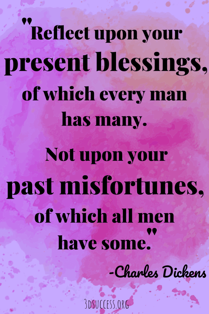 Charles Dickens inspirational quote on gratitude