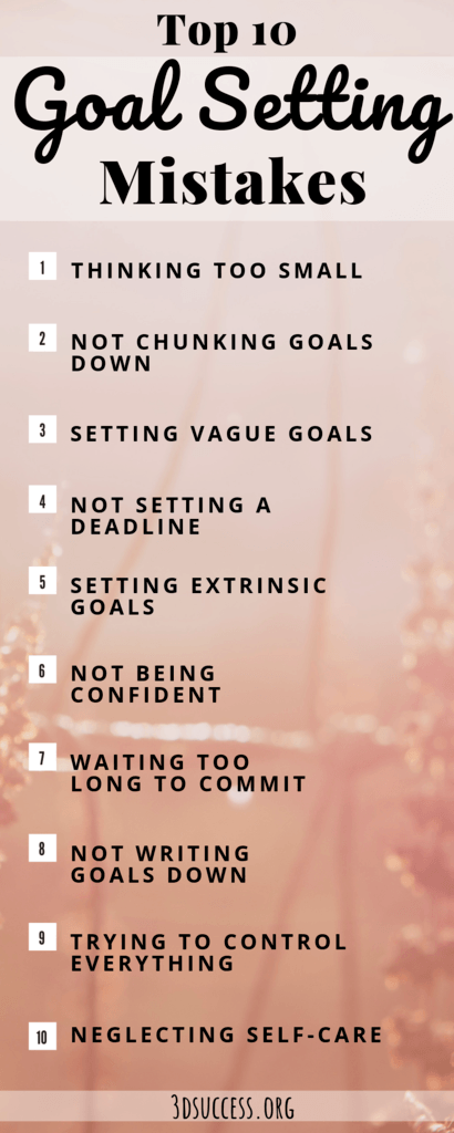 goal setting mistakes infographic