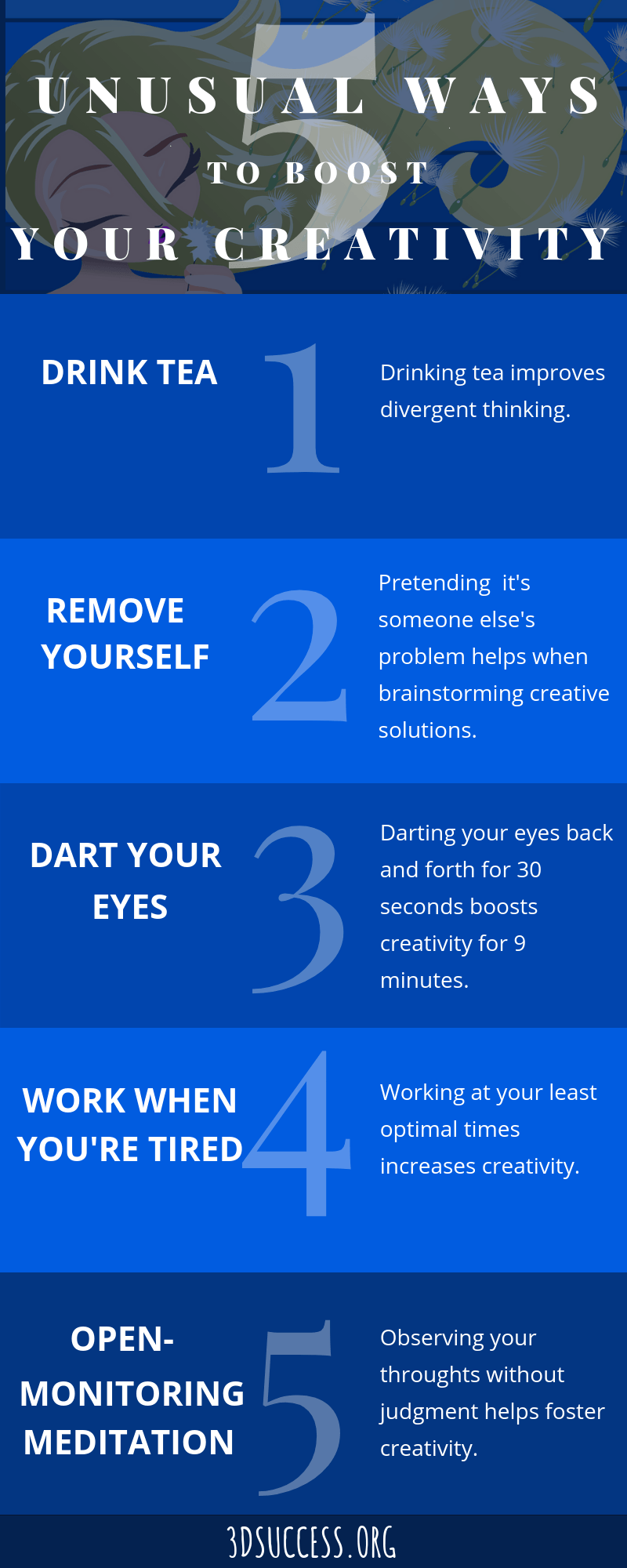 5 Unusual Ways to Boost Your Creativity Infographic Pin