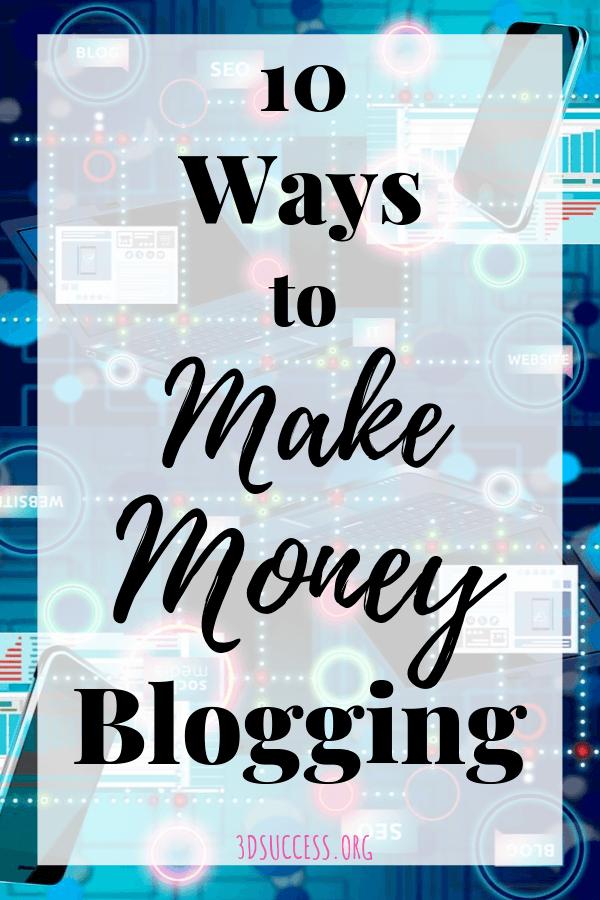 10 Ways to Make Money Blogging pin