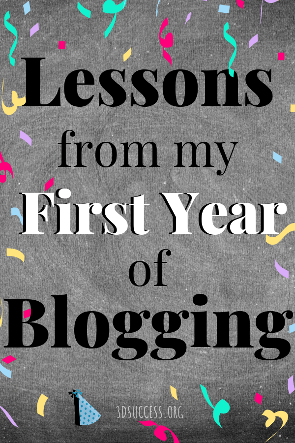 Lessons from My First Year of Blogging