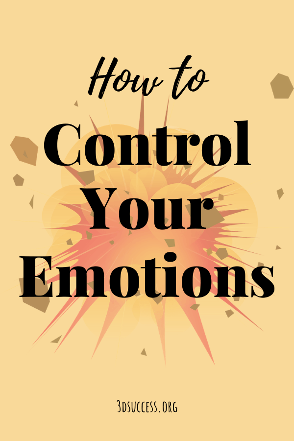 How to Control Your Emotions Pin