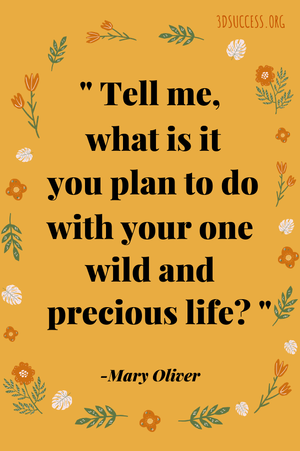 Pin- Mary Oliver Quote