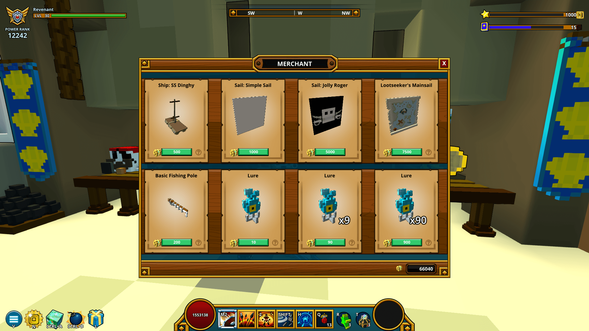 Purchase fishing poles and lures in Trove
