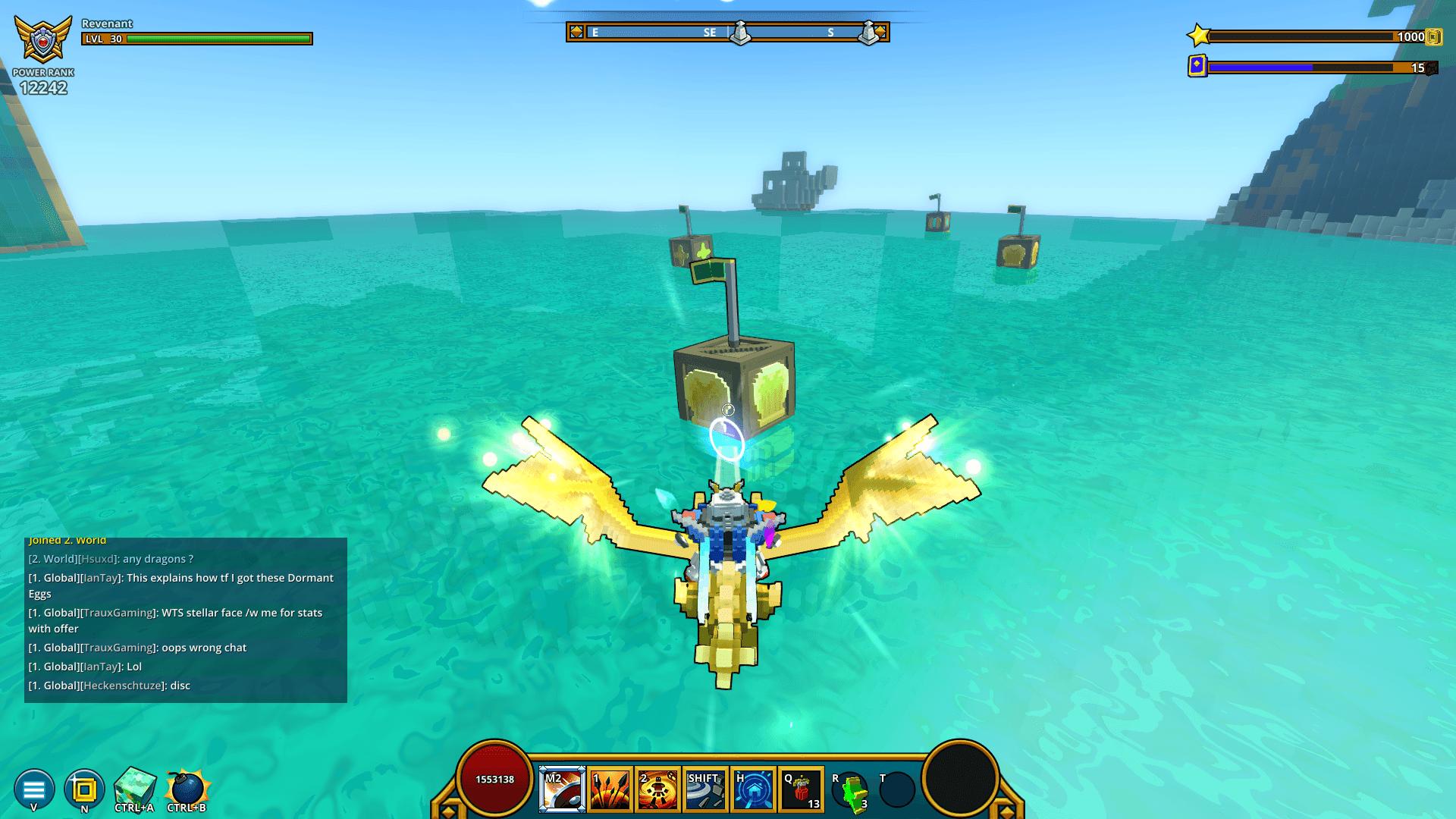 Dragon shooting a Golden Seashell crate