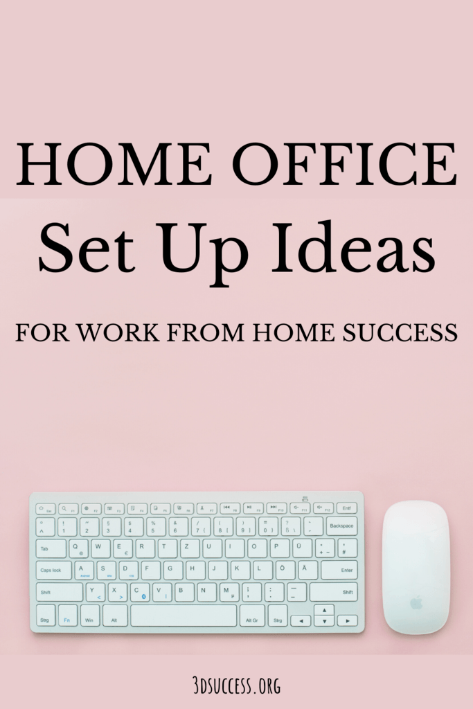 Home Office Set Up Ideas Pin