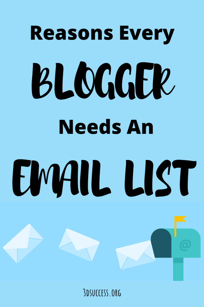 Reasons Every Blogger Needs an Email List Pin